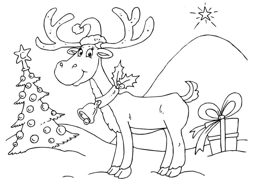 Coloriage renne img 23374 - Renne coloriage ...