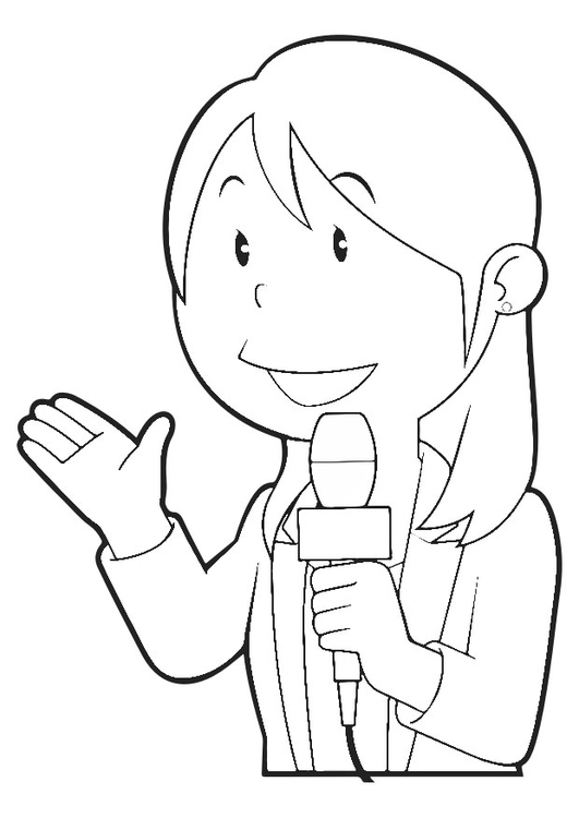 Coloriage reporter