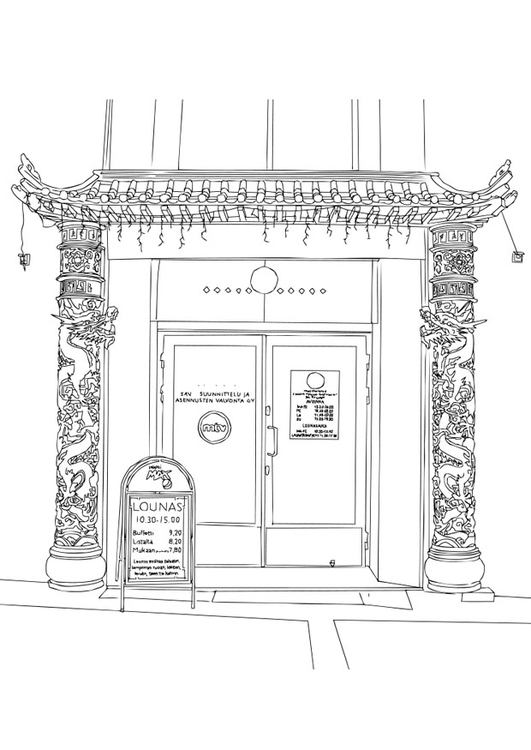 Coloriage restaurant chinois