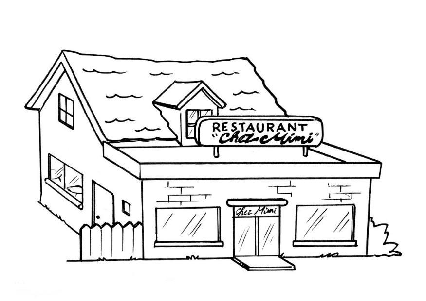 restaurant coloring pages - coloriage restaurant img 8204