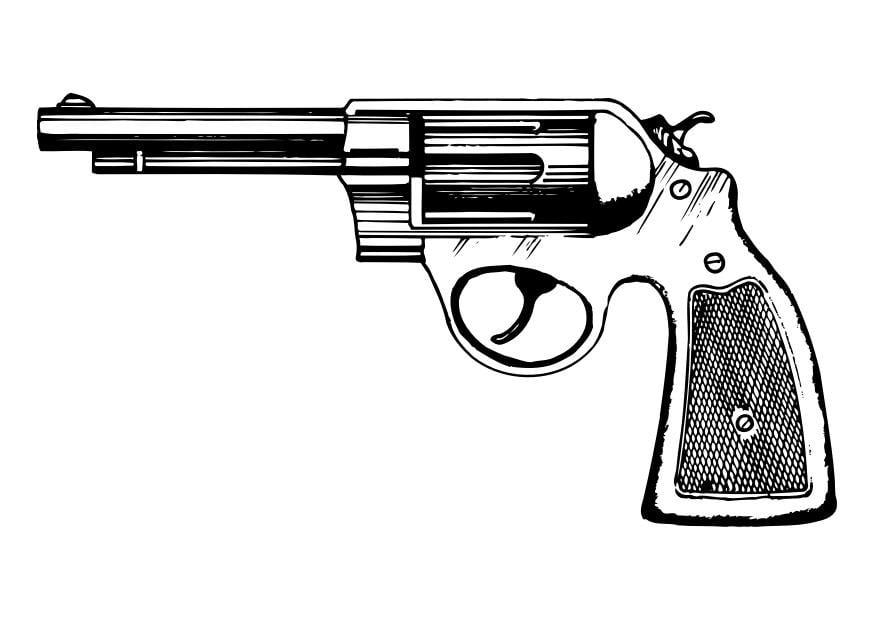 Coloriage revolver img 29804 - Pistolet a colorier ...