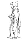 Coloriage robe - burnous