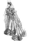 Coloriage robe de mariée 1906