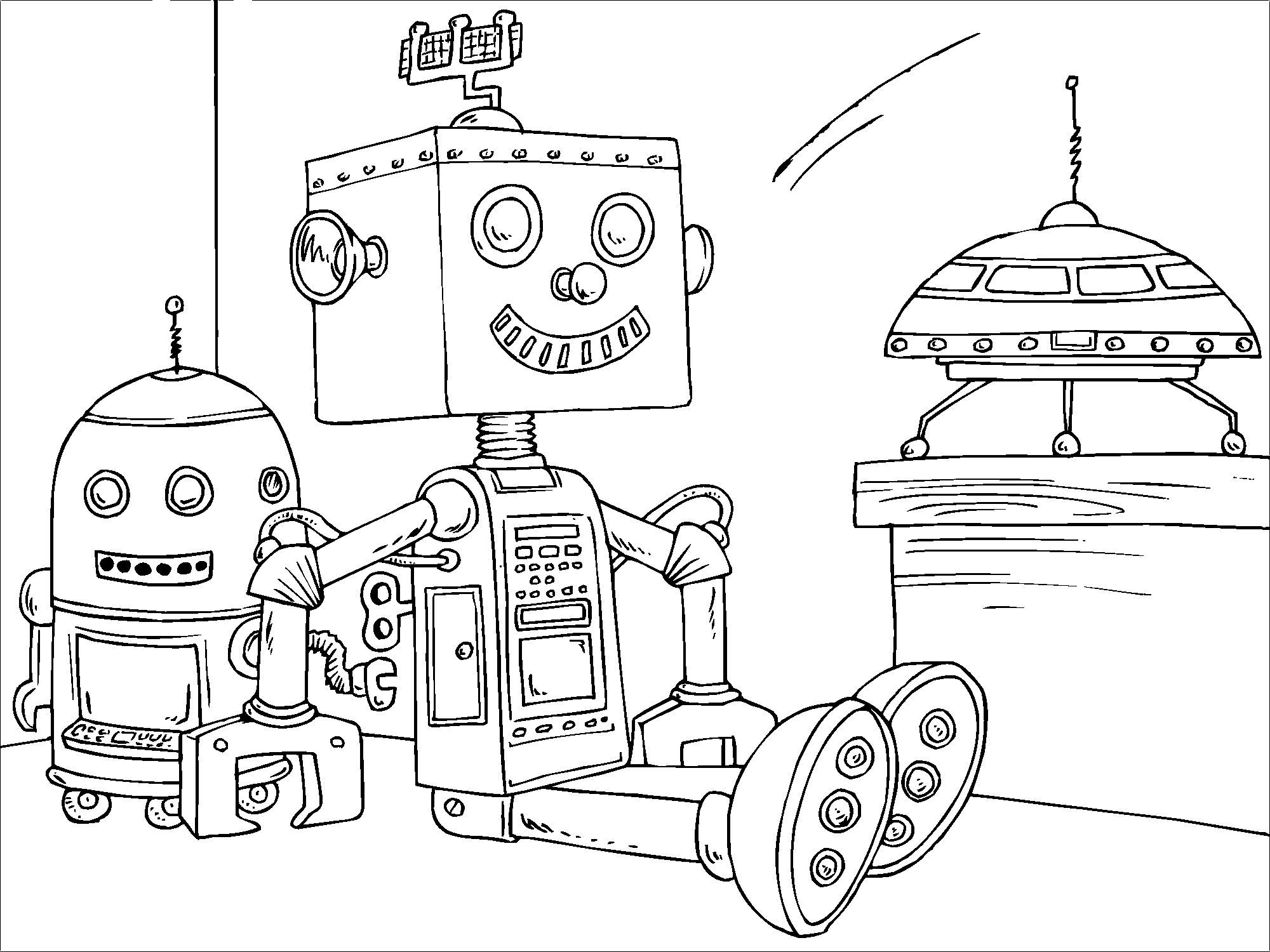 Coloriage robot jouet img 22820 - Robot coloriage ...
