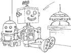 Coloriage robot jouet