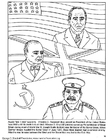 Coloriage Roosevelt, Churchill, Staline