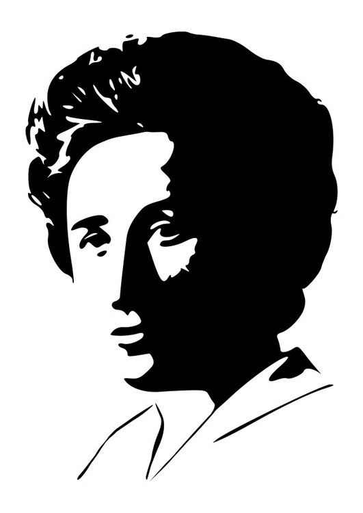 Coloriage Rosa Luxemburg