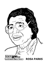 Coloriages Rosa Parks