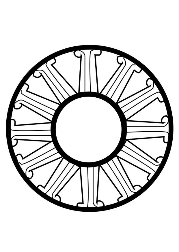 Coloriage roue dharma img 25671 - Coloriage roue ...