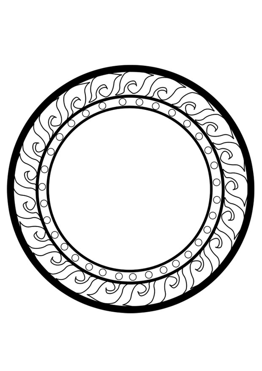 Coloriage roue dharma img 25670 - Coloriage roue ...