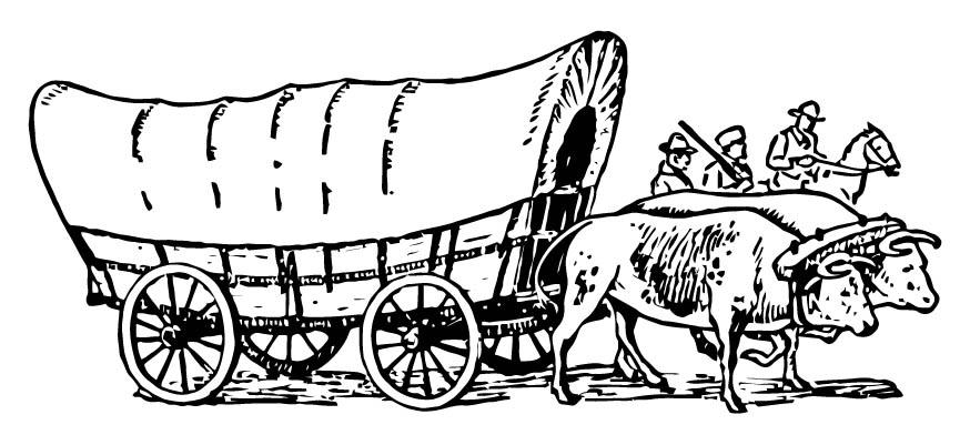 wagon train coloring pages - photo#34