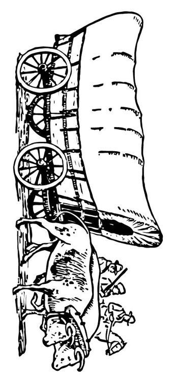 Coloriage Roulotte Bâchée Img 15714