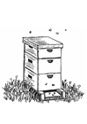 Coloriage ruche