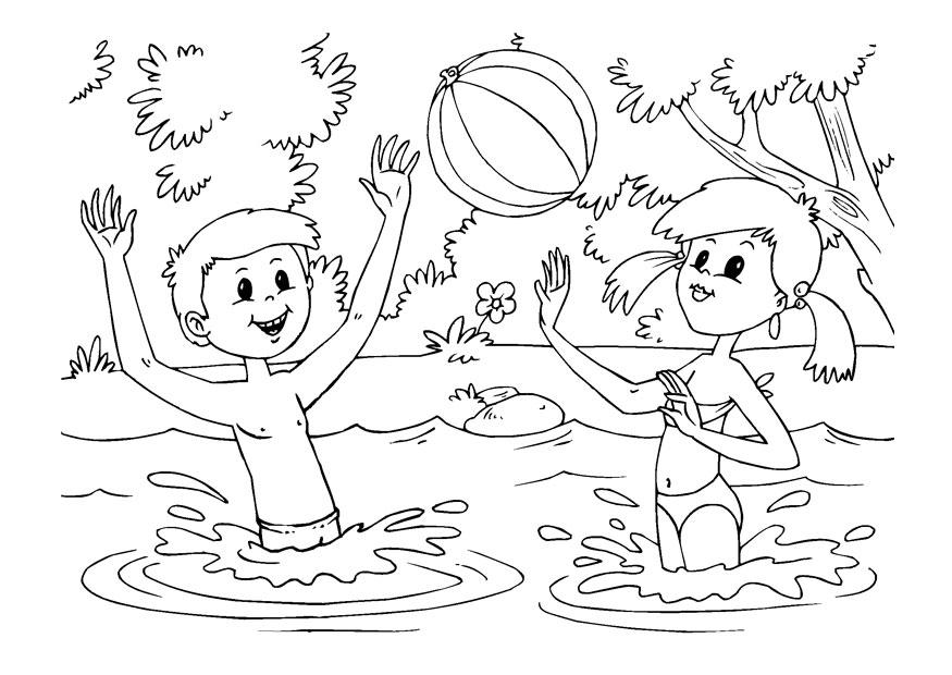 Dibujos Para Colorear Del Agua Para Ninos: Coloriage S'amuser Dans L'eau