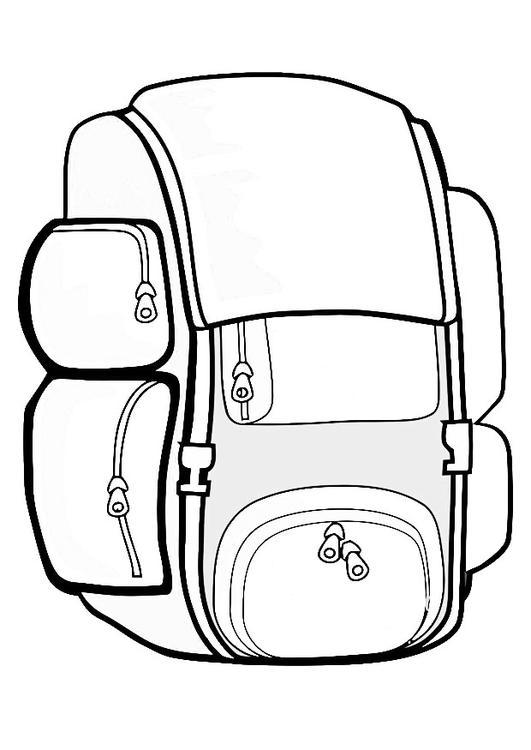 Coloriage sac dos img 19433 - Dessin de valise ...