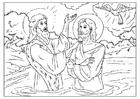 Coloriage saint Jean-Baptiste