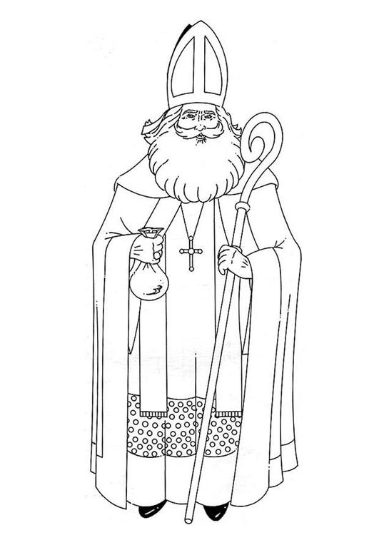 Coloriage Saint Nicolas - Coloriages Gratuits à Imprimer