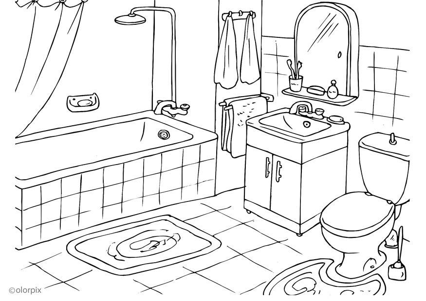Coloriage salle de bains img 25994 for Salle de bain annee 50