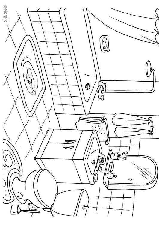 Coloriage salle de bains img 25994 - Dessin de salle de bain ...