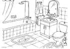 Coloriage salle de bains