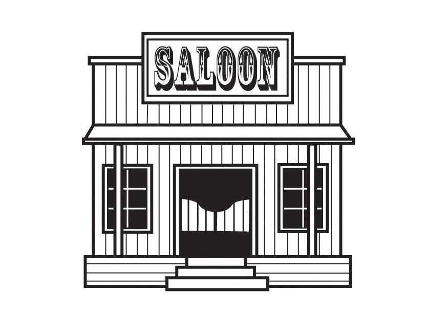 coloriage saloon img 23166. Black Bedroom Furniture Sets. Home Design Ideas