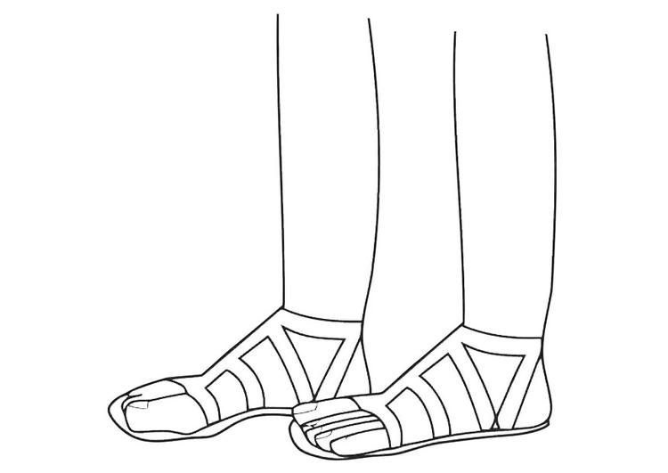 Darbellay et les orteils dans Politique coloriage-sandales-dm19469