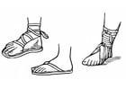 Coloriage sandales