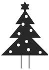 Coloriage sapin de Noël avec étoile