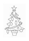 Coloriage sapin de Noël