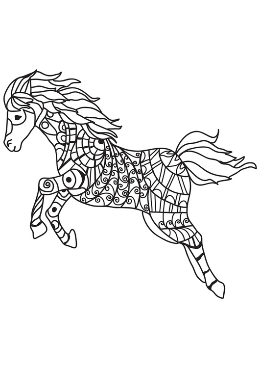 Coloriage sauts à cheval