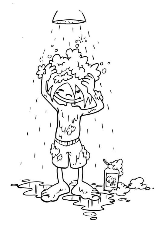 Coloriage se laver les cheveux img 19192 - Dessin se laver ...