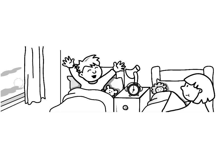 coloriage se lever img 7312. Black Bedroom Furniture Sets. Home Design Ideas
