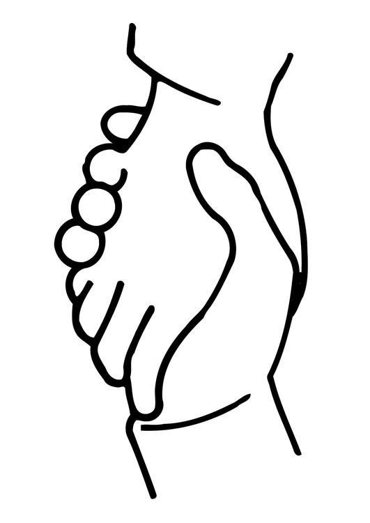 Coloriage se serrer les mains img 11321 - Dessin de mains ...