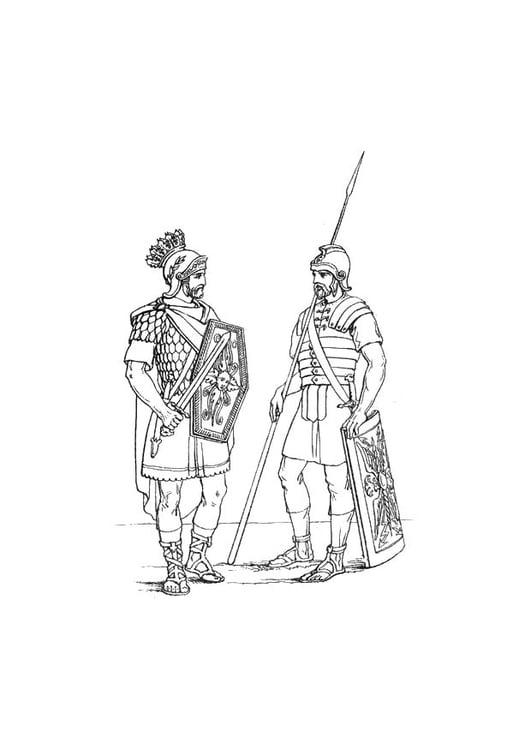 Coloriage soldat anglais de l 39 arm e romaine img 10669 - Coloriage petit soldat ...