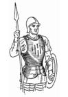 Coloriage soldat avec cuirasse