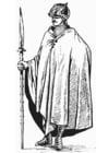 Coloriage soldat avec manteau