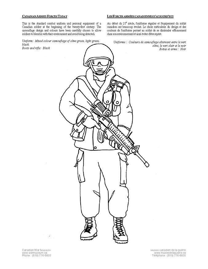 Coloriage soldat canadien d'aujourd'hui - Coloriages ...