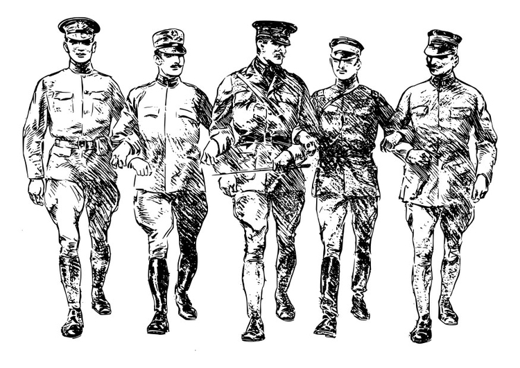 coloriage soldats de la premire guerre mondiale - Coloriage De Guerre