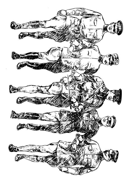Coloriage soldats de la premi re guerre mondiale img 22897 - Coloriage petit soldat ...