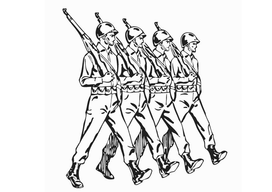Coloriage soldats img 12893 - Dessin de soldat ...