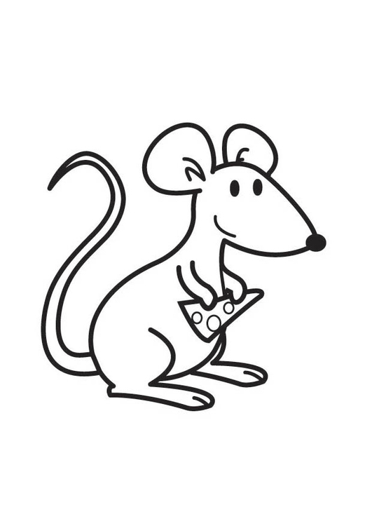 Coloriage Souris Avec Fromage Img 17572