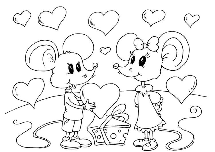Coloriage souris saint valentin img 24611 - Dessin de saint valentin ...