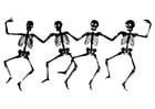 Coloriage squelettes dansantes