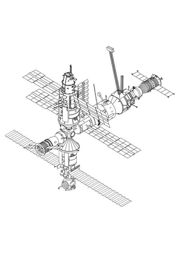 Coloriage station spatiale img