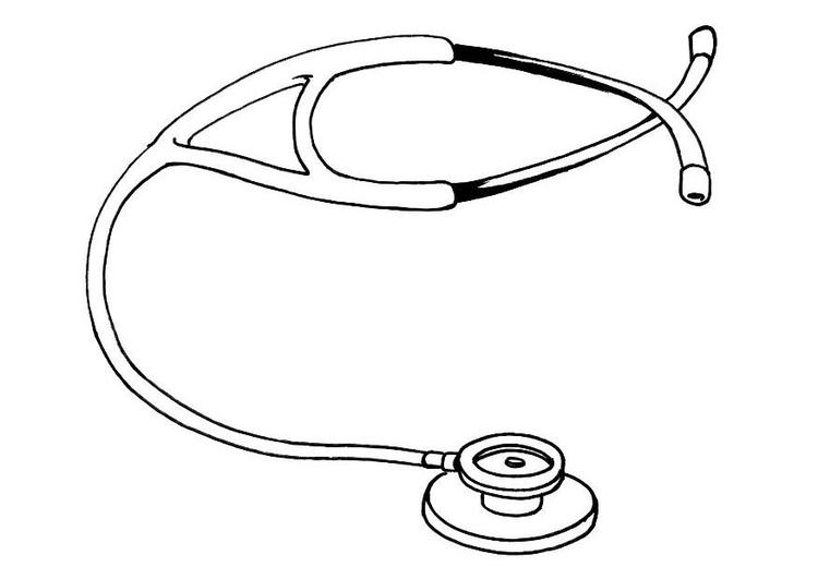 Dessin Stéthoscope coloriage stéthoscope - img 12128