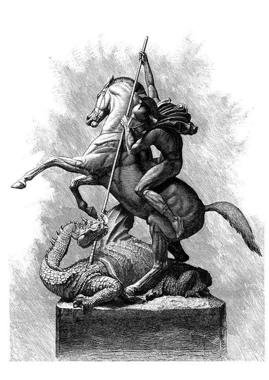 Nouveau Coloriage Dragon Saint Georges Wallpaperworld1stcom
