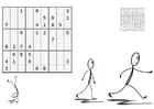 Coloriage sudoku - faire du sport
