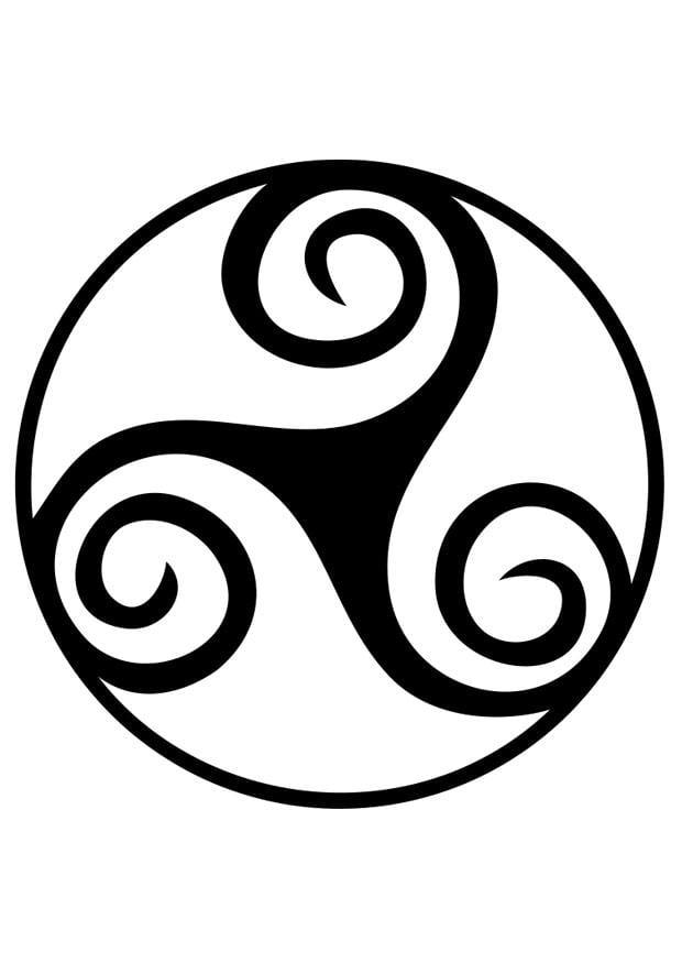 coloriage symbole celte trisk le img 19189. Black Bedroom Furniture Sets. Home Design Ideas