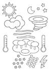 Coloriage symboles - le temps