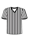 Coloriage t-shirt d'arbitre